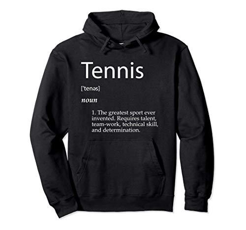 Tennis Definition - Best Racket Sport Singles Double Tennis Felpa con Cappuccio