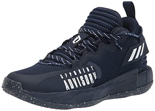 adidas Unisex Dame 7 Extply Basketball Shoe, Team Navy Blue/White/Team Navy Blue, 10.5 US Men