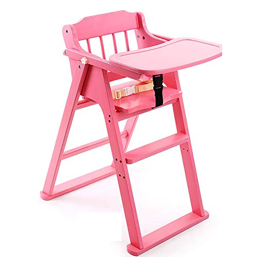 Multi-Function Children's Chair with Dining Table Solid Wood Baby Chair Folding Chair