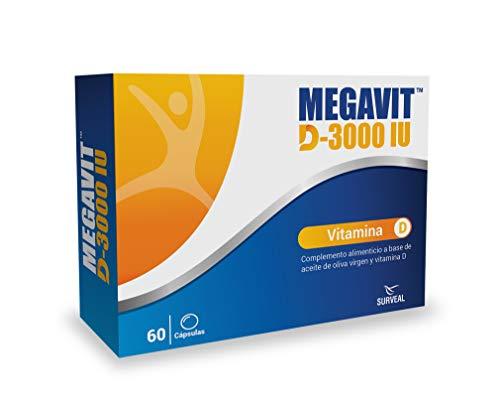 Laboratoires Surveal Megavit D-3000 Vitamina D3 3000 UI 60 cápsulas
