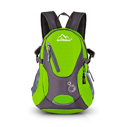 Cycling Hiking Backpack Sunhiker Water Resistant Travel Backpack Lightweight SMALL Daypack M0714 (Green)