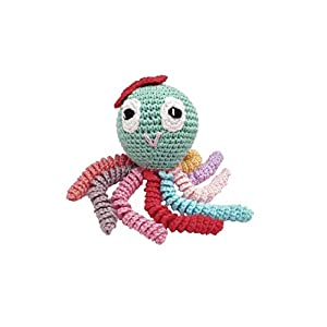 Amigurumi Octopus für Neugeborene mehrfarbig. Häkelkrake – Baby häkeln.