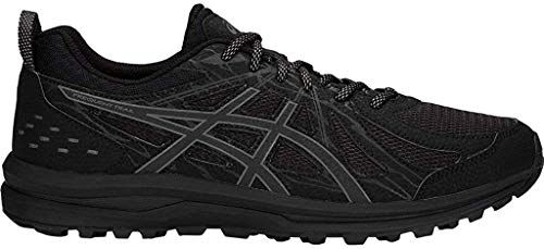 ASICS Men's Frequent Trail Running Shoes, Black/Carbon, 11 X-Wide