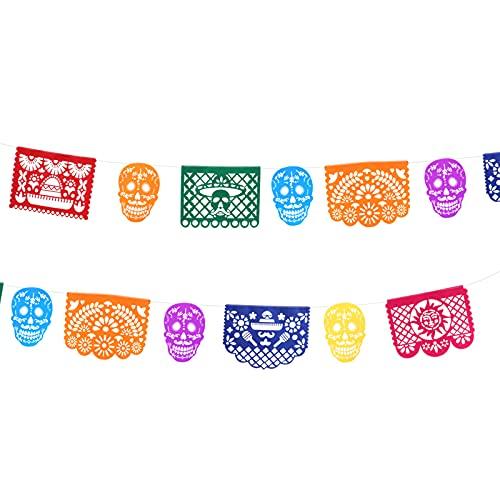 TOYANDONA 1 conjunto Mexican Bunting Pendurado Garland Dia da bandeira morta