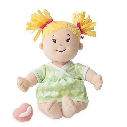 Manhattan Toy Baby Stella Blonde Soft First Baby Doll for Ages 1 Year and Up, 15""
