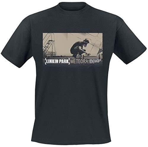 Linkin Park Meteora Hombre Camiseta Negro, Regular