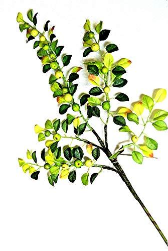 tatjana-land-deko Baie Branche 53 cm Fleurs Artificielles en Branche avec Baies artificielles Plantes GF60 Vert