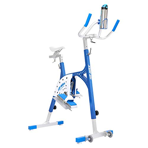 Aquabike Aluminium WR Max WX-WRMAX1 – Pool-Fahrrad, Athlethisch, hydraulisch, Drainage-Effekt, anpassungsfähige Ergonomie – Prof. 1,1 – 1,6 m – WX Water Flex Water Fitness Expert