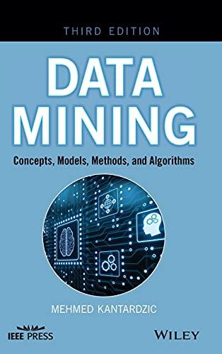 Data Mining: Concepts, Models, Methods, and Algorithms