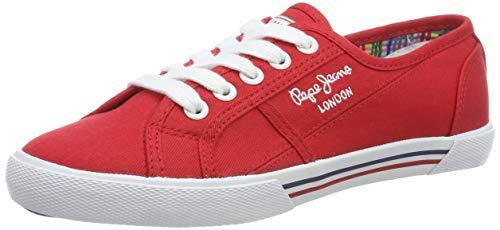Pepe Jeans ABERLADY Basic 17, Zapatillas para Mujer, Rojo (245redwood 245), 39 EU