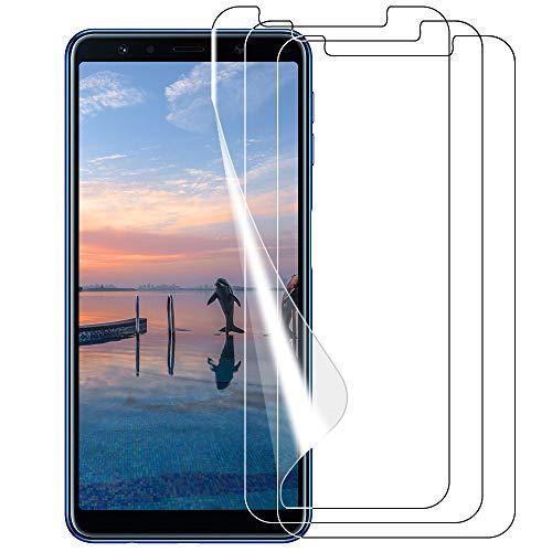 VICKSONGS Schutzfolie für Samsung Galaxy A7 (2018),3Stück Bildschirmschutzfolie (Nicht Glas) Soft Bildschirmschutz Anti-Bläschen Anti-Fingerabdruck Bildschirmfolie Folie Screen Protector für Galaxy A7