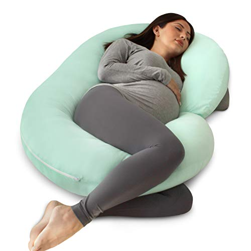 PharMeDoc Full Body Pregnancy Pillow - Maternity Pillow for Pregnant Women - C Shaped Body Pillow...