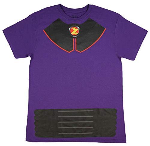 Disney Pixar Toy Story Shirt Men's I Am Zurg Toy Character Costume Tee Adult Licensed T-Shirt (Medium) Purple