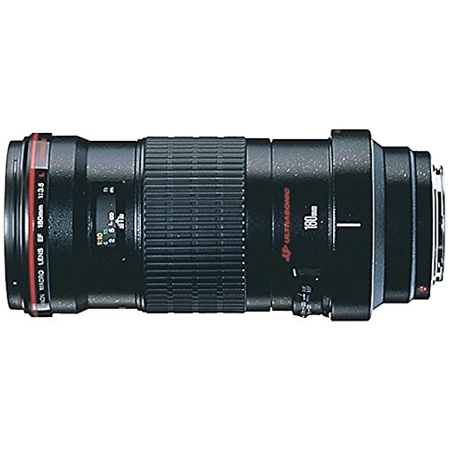 Canon EF 180mm f3.5L Macro USM AutoFocus Telephoto Lens for Canon SLR Cameras (Renewed)
