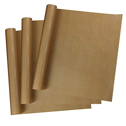 MECOLOUR 3 Pack PTFE Teflon Sheet for Heat Press Transfer Sheet Non Stick 16 X 20' 0.13mm Heat Transfer Paper Reusable Heat Resistant Craft Mat