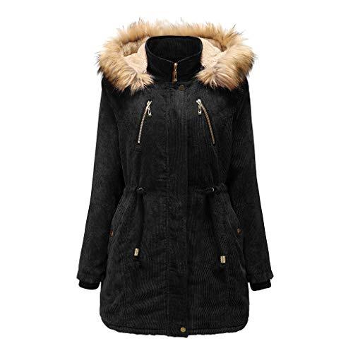 Lowest Prices! CrazyfashionWomen Girl Autumn Winter Jacket Hooded Warm Coat Long Sleeve Coat Black
