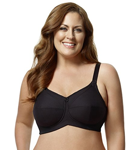 Elila Cotton Wire Free Nursing Bra (1613) 46H/Black