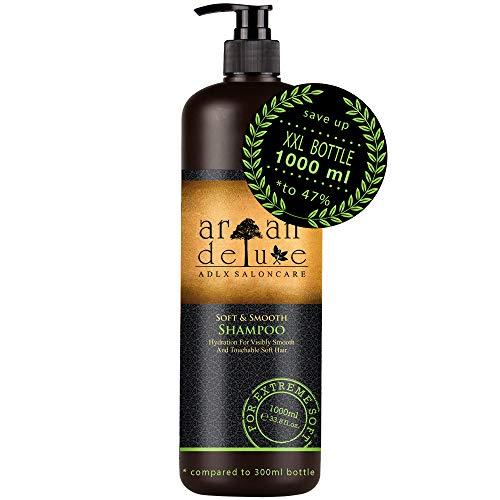 Argan Deluxe Care & Repair Shampoo in Friseur-Qualität 1000 ml - repariert & pflegt - Anti Spliss, Anti Frizz & effektive Hilfe bei Haarbruch und kaputte Haare - für Frauen & Männer