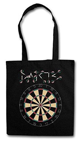 Urban Backwoods Darts Target & Arrows Sport Logo Hipster Bag Beutel Stofftasche Einkaufstasche
