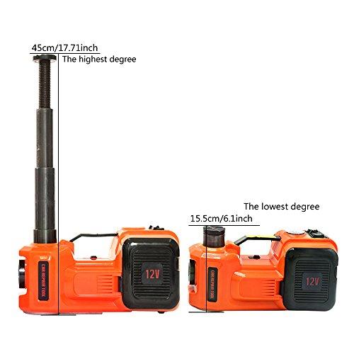 ZS ZAISHANG, cric idraulico elettrico, 3,5 tonnellate, 155-450 mm, 12 V, 150...