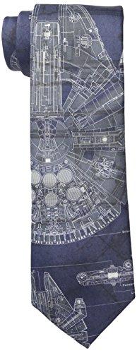 Star Wars Herren Krawatte Millennium Falcon - Blau - Regulär (Textilien)