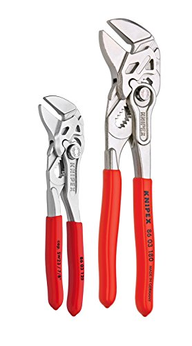 KNIPEX Tools - 2 Piece Mini Pliers Wrench Set (9K0080121US)