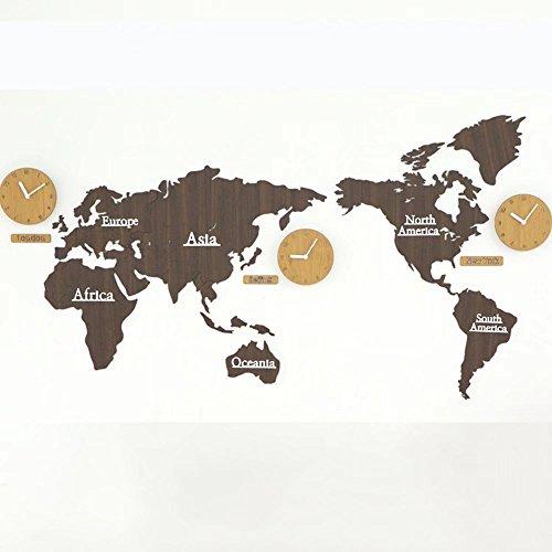 MAIKA HOME Weltkarte Uhr, Nordische Uhren/Wanduhren, Wohnzimmer Moderne Dekorationen Startseite Hängenden Tische, Wandbilder (Farbe: L)