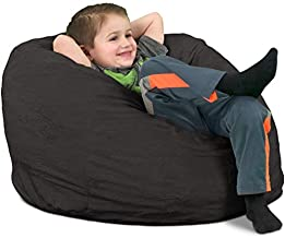 ULTIMATE SACK Bean Bag Chairs in Multiple Sizes and Colors: Giant Foam-Filled Furniture - Machine Washable Covers, Double Stitched Seams, Durable Inner Liner. (Kids Sack, Grey Suede)