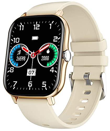 Reloj Inteligente Con Pantalla Táctil Completa De 1,7 Pulgadas IP68 A Prueba De Agua Pulsera Inteligente / Reloj De Pulsera Rastreador De Actividad Física Tiempo De Espera Prolongado ( Color : Gold )