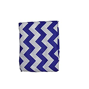 Baby Doll Bedding Chevron Fitted Crib/Toddler BedSheet, Plum