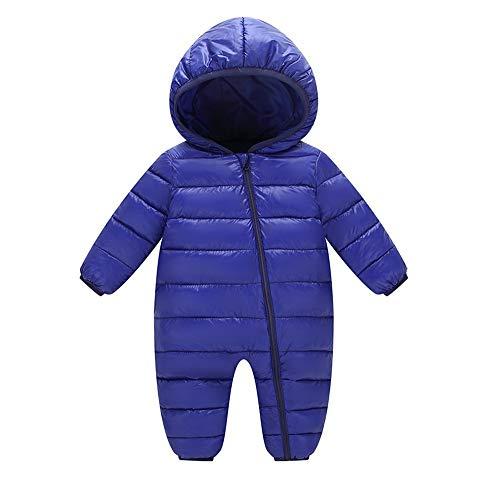 Riou-Baby Kleidung Winter Warme Mantel Kapuzenjacke Kinderjacke Wintermantel Daunenjacke Baby Jungen Mädchen Kinder Strampler Kinder Winter Dicke Winter Warme Overall Oberbekleidung (90, Blau)