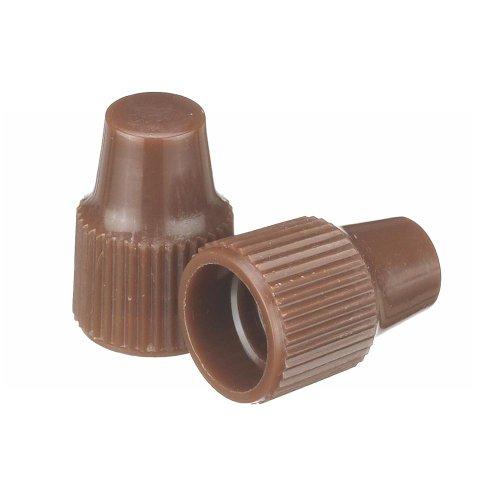 Wheaton 242509 Tropfflaschen-Verschluss, 8-425, Verwendung mit 8 mm Spitze und 1-3 mL Tropfflaschen, Braun (100-er Pack)