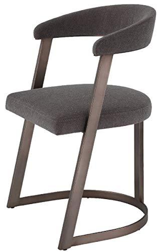 Casa Padrino Silla de diseño con reposabrazos Gris-marrón/Bronce 52 x 49 x A....