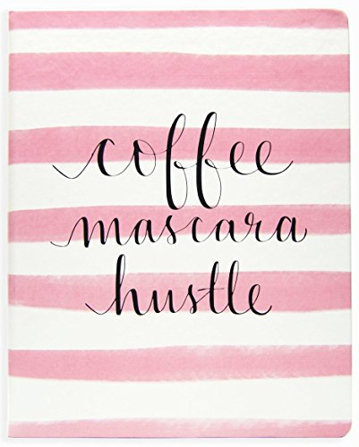 ECCOLO Dayna Lee Collection Hardcover Schreibtisch–Größe Notebook, Seiten aus säurefreiem gefüttert L Pink - Coffee Mascara Hustle