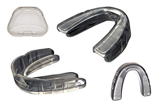 Coollo Sports Boil and Bite Mouth Guard (Youth & Adult) SA Custom Fit Sport Mouthpiece for Basketball, Karate, Martial Arts, Wrestling, MMA (Free Case Included!) (Adult - Ages 11 & Above, 1-Pack)