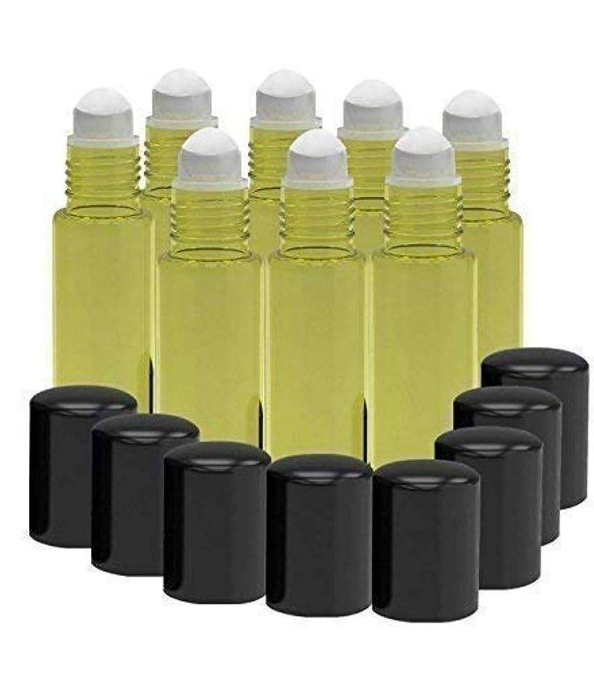 ドラッグ睡眠メトリック8 Pack - Essential Oil Roller Bottles [PLASTIC ROLLER] 10ml Refillable Glass Color Roll On for Fragrance Essential Oil - Metal Chrome Roller Ball - 10 ml 1/3 oz Yellow [並行輸入品]