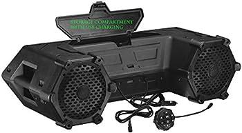 Planet Audio PATV85 ATV UTV Weatherproof Sound System - 8 Inch Speakers 1.5 Inch Tweeters Built-in Amplifier Bluetooth Built-in LED Lightbar Easy Installation for 12 Volt Vehicles