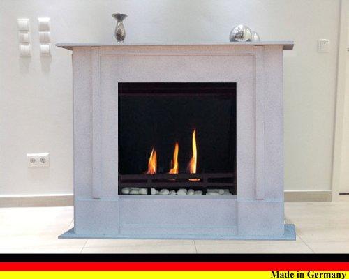 Chimenea Etanol y Gel Modelo Rafael Premium - Elige el color (Granito blanco)
