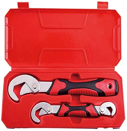 WSZYBAY Set de Llavero Universal Ajustable Juego de Carreras de reparación de automóviles Herramientas de la Llave Inglesa Herramientas de Mano Herramientas de Mano Tubería de Agua Zócalo de Llave