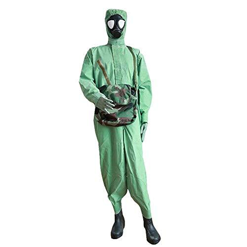QICLT Tuta Protettiva con Cappuccio, Robusto e Leggero Flessibile e indossabile Zip e Polsini in Cotone Elastici Tuta Protettiva Contro Sostanze chimiche, polveri, Particelle nucleari,Large