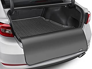 WeatherTech Cargo Liner Floor Mat + Bumper Protector Tailored Suitable for: Audi Q7/SQ7 7 Seats Behind 2* Row 2015-19|Black CargoLiner