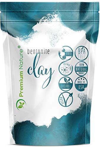 Indian Healing Bentonite Clay Mask - Detoxifying Facial Mask Treatment for Hair & Skin, Face Care Masks Natural Deep Cleansing, Pore Minimizer Detox Clay Cleanser Powder 16 oz