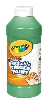 Crayola Fingerpaint Green 32 Ounces Washable Kids Paint Ages 3+