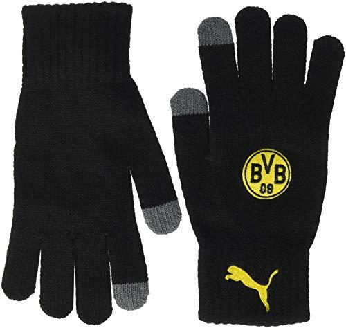 PUMA Unisex Bvb Knitted Handschuhe, schwarz (Puma Black), M