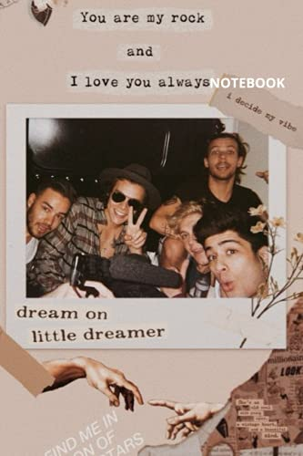 One Direction : Notebook and Journal Perfect for Birthday gifts and Fan club members: perfectly Lined journal with 110 pages , 6x9 inches