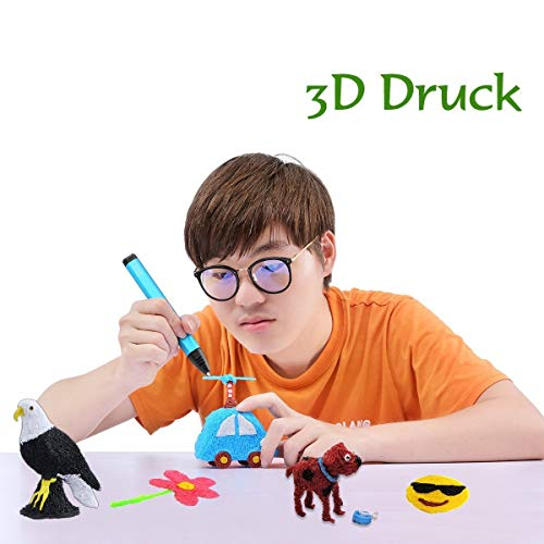 Tipeye 3D Stift Nachfüller 12 Farben 6,1 M, 3D Stifte Filament 1,75mm, 3D Stift Farben Set für ODRVM, Uvistare, Sunlu, PLUSINNO, QPAU, Lovebay, Nexgadget und dikale 3D Druckstift - 6