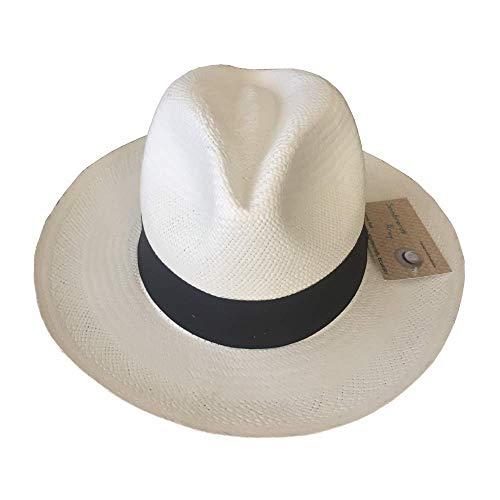 pequeño y compacto Sombrero Panamá Aray tejido a mano en Montecristi, Ecuador