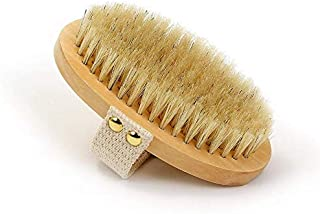Dry Skin Body Brush - Improves Skin's Health And Beauty - Natural Bristle - Remove Dead Skin And Toxins, Cellulite Treatme...