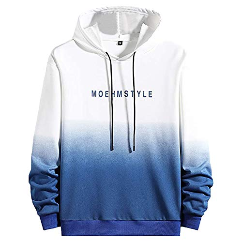 Sweater Riding Hooded Clothing Windshield Men's Hoodie Zipper Sweatshirt - 3D Casual Gradient Printed Unisex Long Sleeve Hooded Jacket Large Size Hoodie Gradient Top Pullover Sweatshirt Gradient