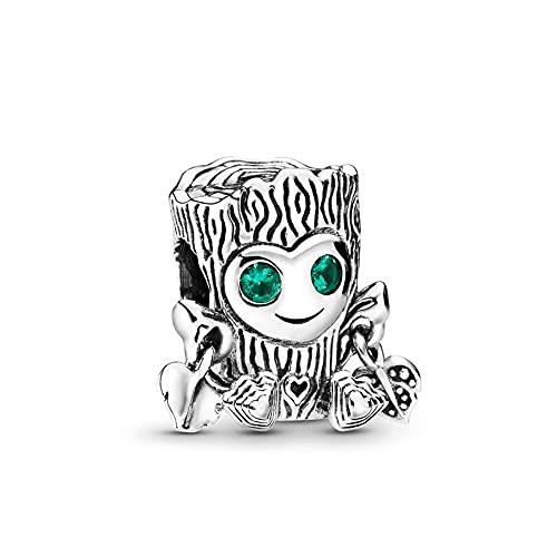 Pandora 925 ciondolo in argento sterling fai da te perline dolce albero mostro fascino adatto moda donna braccialetto braccialetto regalo gioielli
